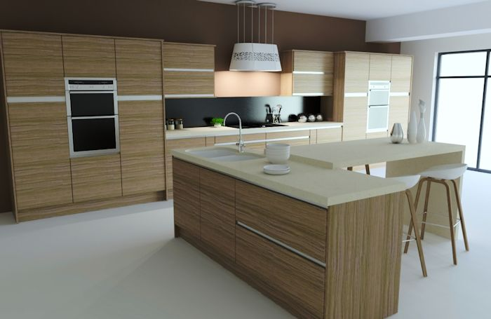 V Shaped Kitchen Island